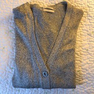 Silver cardigan sweater